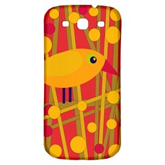 Yellow Bird Samsung Galaxy S3 S Iii Classic Hardshell Back Case by Valentinaart