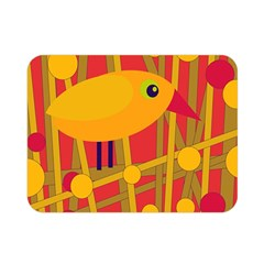Yellow Bird Double Sided Flano Blanket (mini)  by Valentinaart