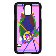 Pink Artistic Abstraction Samsung Galaxy S5 Case (black) by Valentinaart