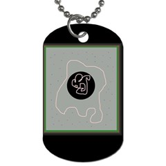 Gray Abstract Art Dog Tag (two Sides) by Valentinaart