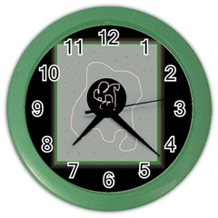 Gray Abstract Art Color Wall Clocks by Valentinaart
