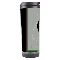 Gray Abstract Art Travel Tumbler by Valentinaart