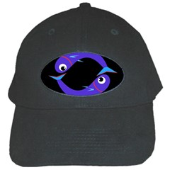 Blue Fishes Black Cap