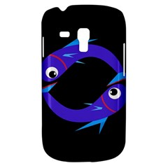Blue Fishes Samsung Galaxy S3 Mini I8190 Hardshell Case by Valentinaart