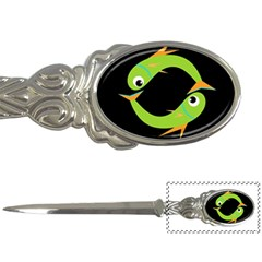 Green Fishes Letter Openers by Valentinaart
