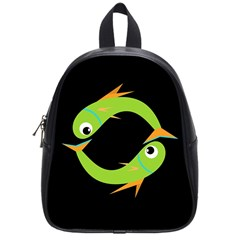 Green Fishes School Bags (small)