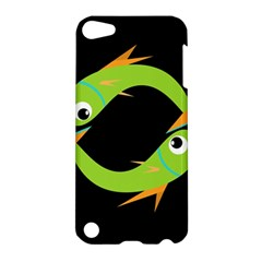 Green Fishes Apple Ipod Touch 5 Hardshell Case by Valentinaart