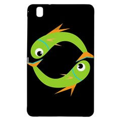 Green Fishes Samsung Galaxy Tab Pro 8 4 Hardshell Case by Valentinaart