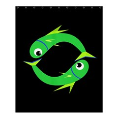 Green Fishes Shower Curtain 60  X 72  (medium)  by Valentinaart