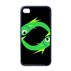 Green Fishes Apple Iphone 4 Case (black) by Valentinaart