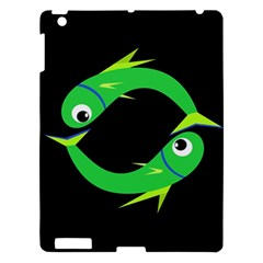 Green Fishes Apple Ipad 3/4 Hardshell Case by Valentinaart