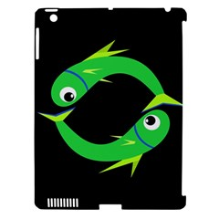 Green Fishes Apple Ipad 3/4 Hardshell Case (compatible With Smart Cover) by Valentinaart