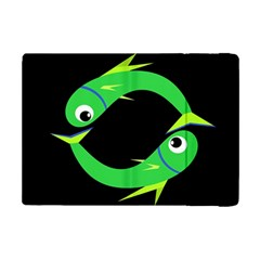 Green Fishes Ipad Mini 2 Flip Cases by Valentinaart