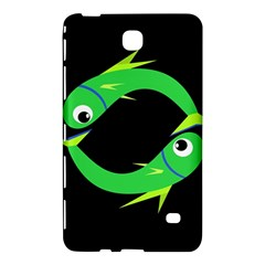 Green Fishes Samsung Galaxy Tab 4 (8 ) Hardshell Case  by Valentinaart
