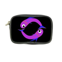 Purple Fishes Coin Purse by Valentinaart