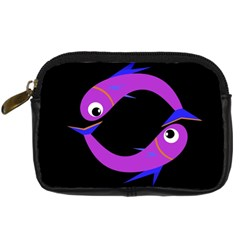 Purple Fishes Digital Camera Cases by Valentinaart