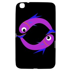 Purple Fishes Samsung Galaxy Tab 3 (8 ) T3100 Hardshell Case  by Valentinaart