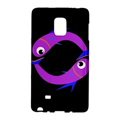 Purple Fishes Galaxy Note Edge by Valentinaart