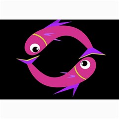 Magenta Fishes Collage Prints by Valentinaart