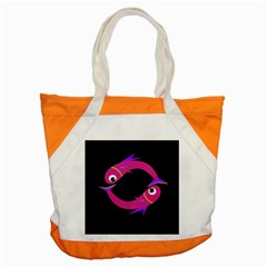 Magenta Fishes Accent Tote Bag by Valentinaart