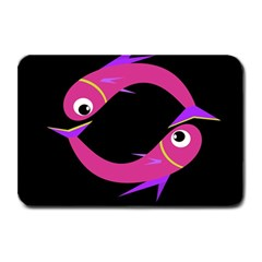 Magenta Fishes Plate Mats by Valentinaart