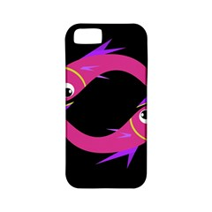 Magenta Fishes Apple Iphone 5 Classic Hardshell Case (pc+silicone) by Valentinaart