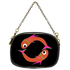 Orange Fishes Chain Purses (two Sides)  by Valentinaart