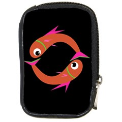 Orange Fishes Compact Camera Cases by Valentinaart