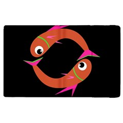 Orange Fishes Apple Ipad 2 Flip Case by Valentinaart