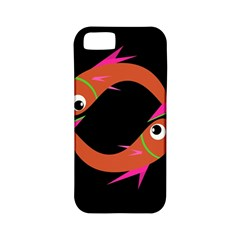 Orange Fishes Apple Iphone 5 Classic Hardshell Case (pc+silicone) by Valentinaart