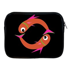 Orange Fishes Apple Ipad 2/3/4 Zipper Cases by Valentinaart
