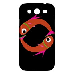 Orange Fishes Samsung Galaxy Mega 5 8 I9152 Hardshell Case  by Valentinaart