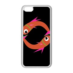 Orange Fishes Apple Iphone 5c Seamless Case (white) by Valentinaart