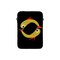Yellow Fishes Apple Ipad Mini Protective Soft Cases by Valentinaart