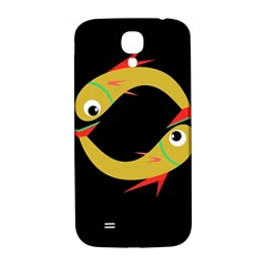 Yellow Fishes Samsung Galaxy S4 I9500/i9505  Hardshell Back Case by Valentinaart