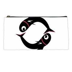 Black Fishes Pencil Cases by Valentinaart