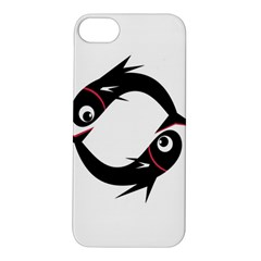 Black Fishes Apple Iphone 5s/ Se Hardshell Case by Valentinaart