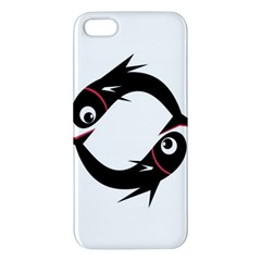 Black Fishes Iphone 5s/ Se Premium Hardshell Case by Valentinaart