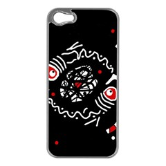 Abstract Fishes Apple Iphone 5 Case (silver) by Valentinaart