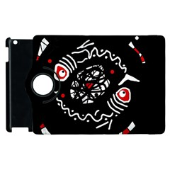 Abstract Fishes Apple Ipad 2 Flip 360 Case by Valentinaart