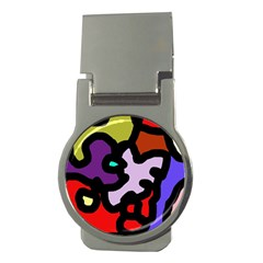 Colorful Abstraction By Moma Money Clips (round)  by Valentinaart