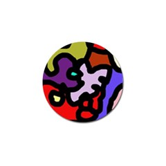 Colorful Abstraction By Moma Golf Ball Marker (4 Pack) by Valentinaart