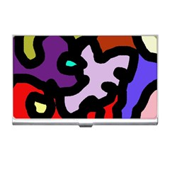 Colorful Abstraction By Moma Business Card Holders by Valentinaart