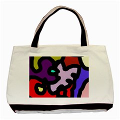 Colorful Abstraction By Moma Basic Tote Bag (two Sides) by Valentinaart