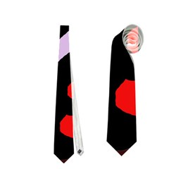 Colorful Abstraction By Moma Neckties (one Side)  by Valentinaart