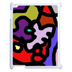Colorful Abstraction By Moma Apple Ipad 2 Case (white) by Valentinaart