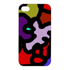 Colorful Abstraction By Moma Apple Iphone 4/4s Premium Hardshell Case by Valentinaart