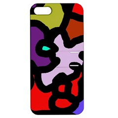 Colorful Abstraction By Moma Apple Iphone 5 Hardshell Case With Stand by Valentinaart