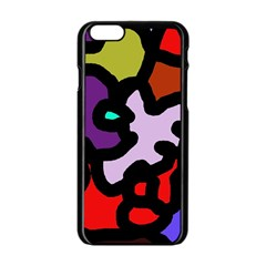Colorful Abstraction By Moma Apple Iphone 6/6s Black Enamel Case by Valentinaart