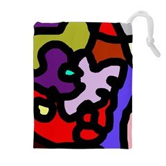 Colorful Abstraction By Moma Drawstring Pouches (extra Large) by Valentinaart